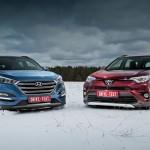Сравнение кроссоверов Hyundai Tucson и Toyota RAV4